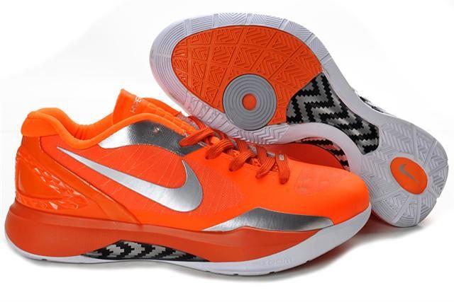 New nike zoom hyperdunk blake griffin low orange silver shoes