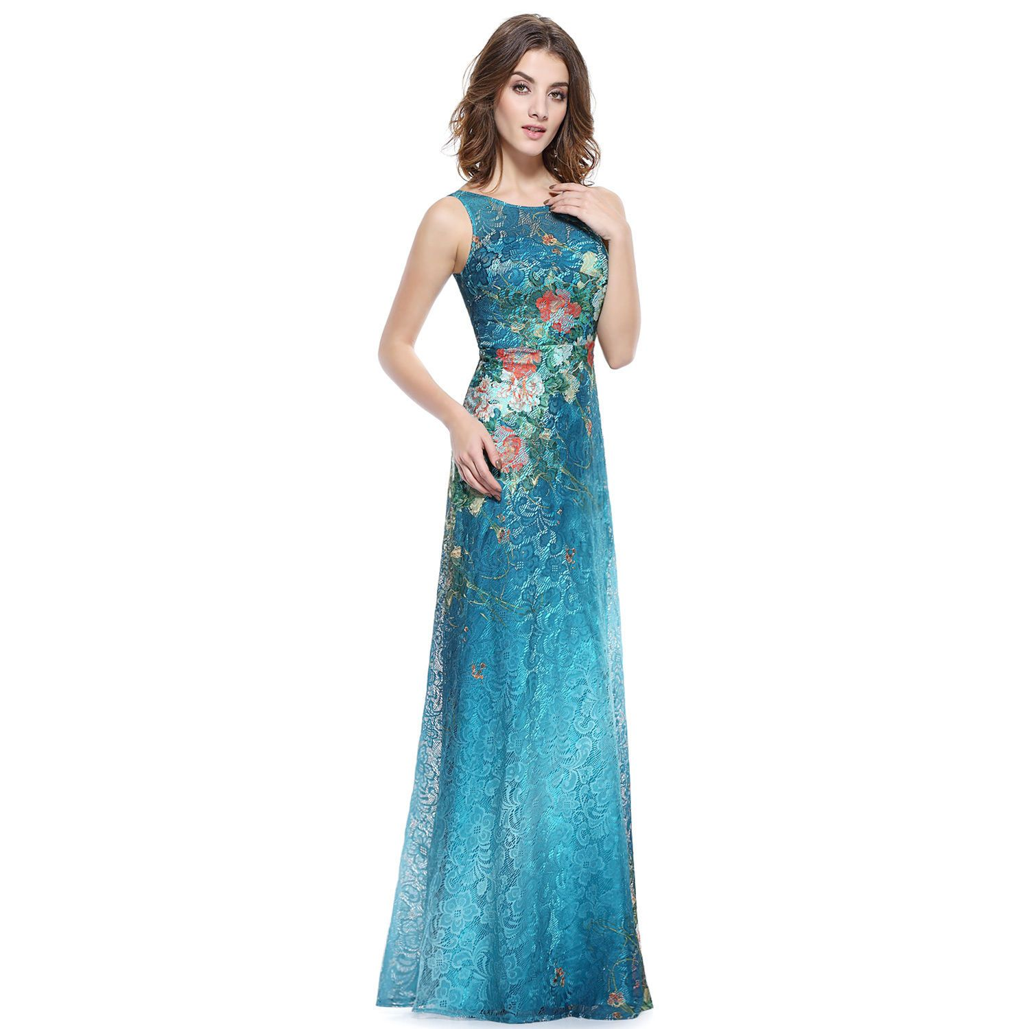 Nice green lace boho evening dresses pageant homecoming ball gown