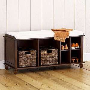 Shoe storage benches & storage bins with extra shawls and skirts for a last minute visit to ...