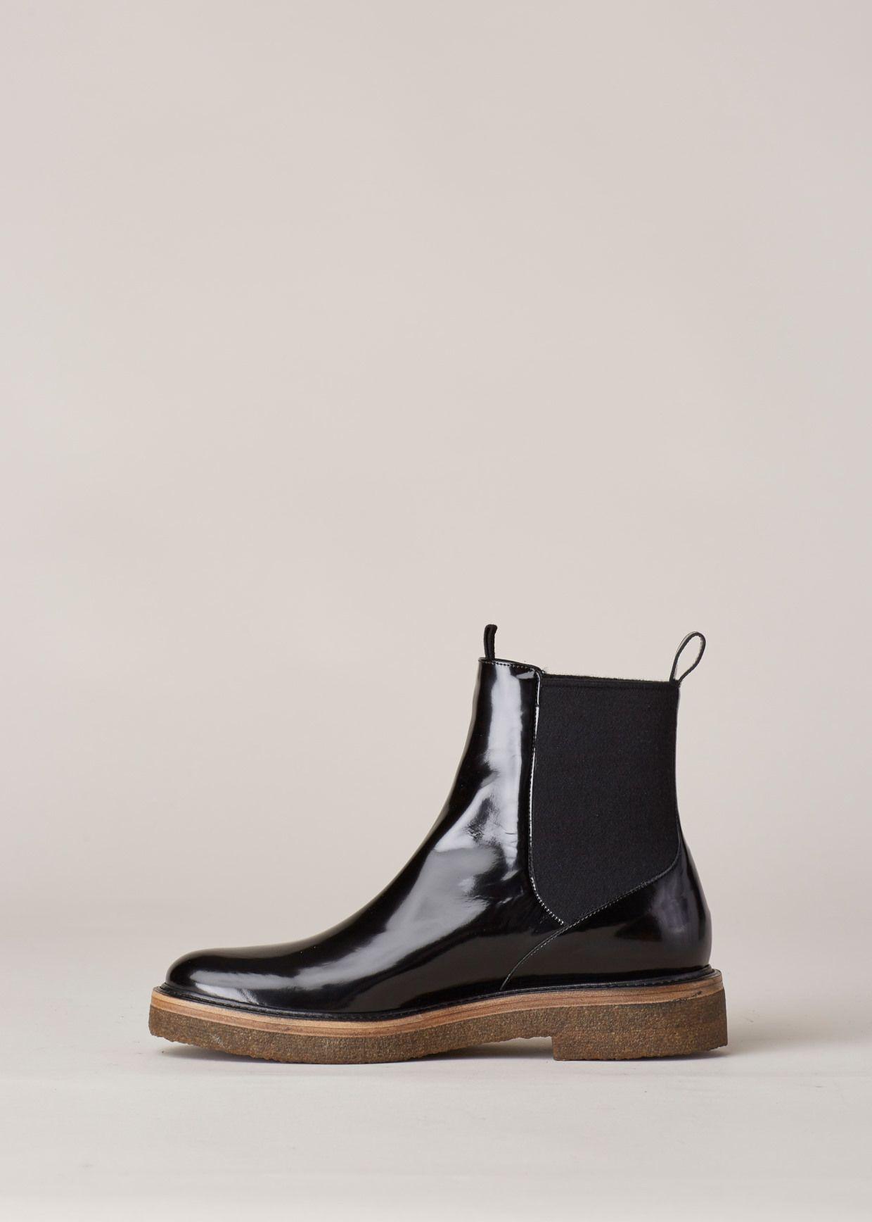 d94ab027729 Totokaelo - Dries Van Noten Gloss Black Pull On Chelsea Boot