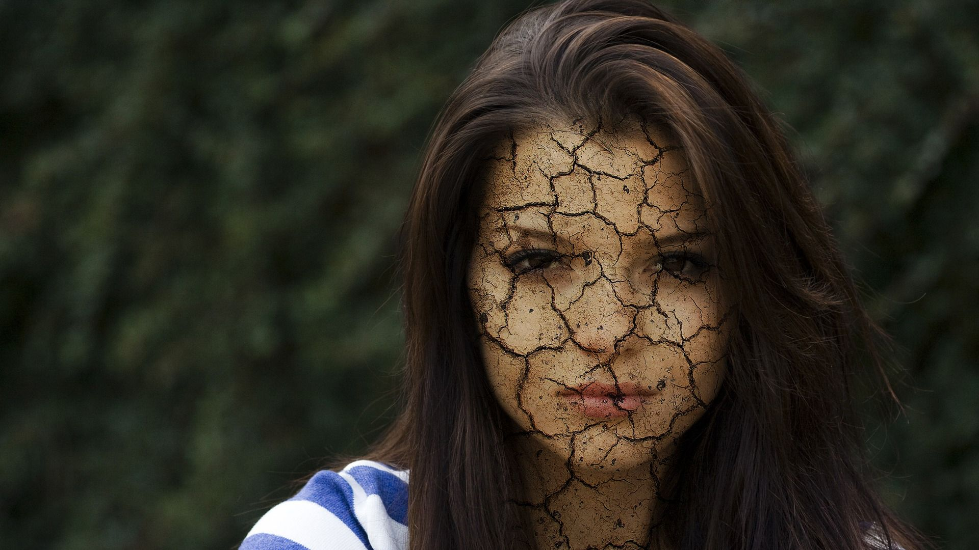 How to make Cracked Face in Photoshop