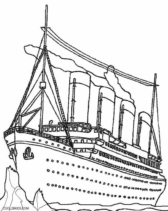 Printable Titanic Coloring Pages For Kids Cool2bkids Coloring Pages Titanic Drawing Titanic Ship
