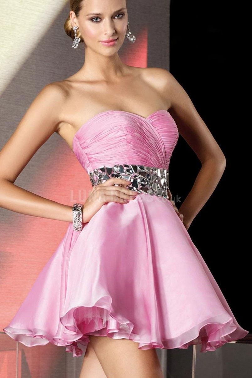 Baby doll prom dress short prom dress pink prom dress dresses
