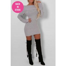 Emmie Grey Bardot Jumper Dress