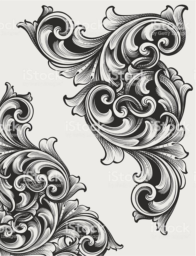 Designed By A Hand Engraver Highly Detailed Authentic Engraving Schnorkel Tattoo Muster Tattoos Barock Tattoo