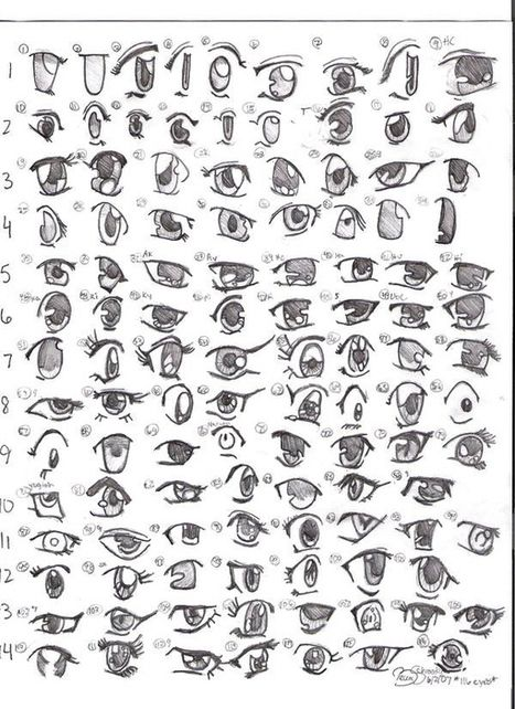 Manga Eye Drawing Reference Guide Drawing References And