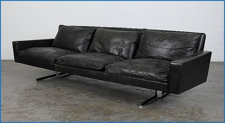 Best Of Modern Black Leather sofa with Chrome Legs ...