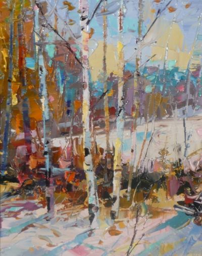"""Dean Bradshaw  - """"A Winter's Day"""" love the colors and the technique:"""