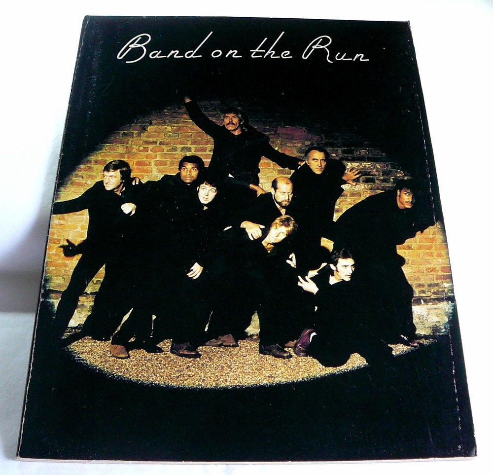 "S-O-L-D- THANK-yOU ...1977  SONGBOOK  BAND ON THE RUN Paul McCartney Music Sheets 58 pg ""Jet"" Bluebird"
