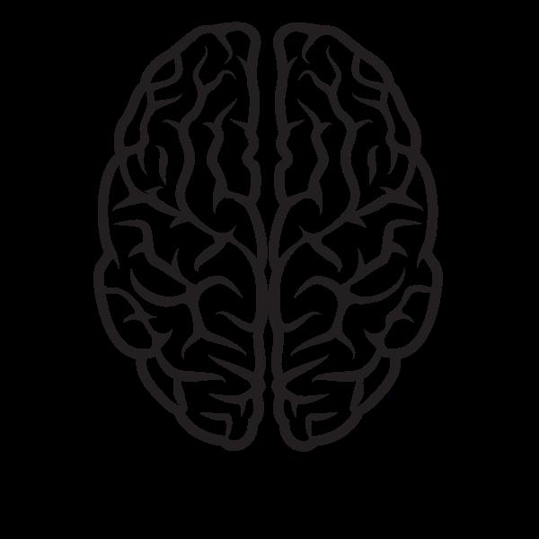 Brain Silhouette Black And White Brain Illustration Brain Vector Brain Drawing