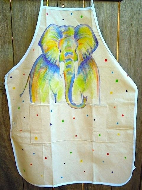 Elephant No 17 Inktense Pencils On Fabric Watercolor Fabric