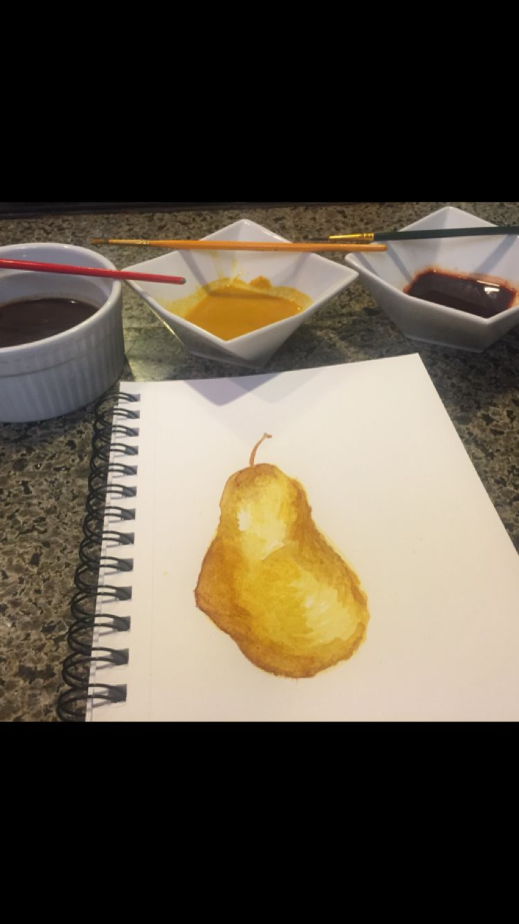 Pear Painting Turmeric Paint Chile Paint Coffee Paint Use
