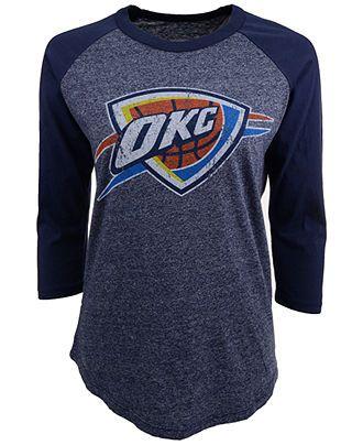 Majestic Women s Three-Quarter-Sleeve Oklahoma City Thunder Raglan T-Shirt  - Sports Fan Shop By Lids - Men - Macy s 8c70e3533d