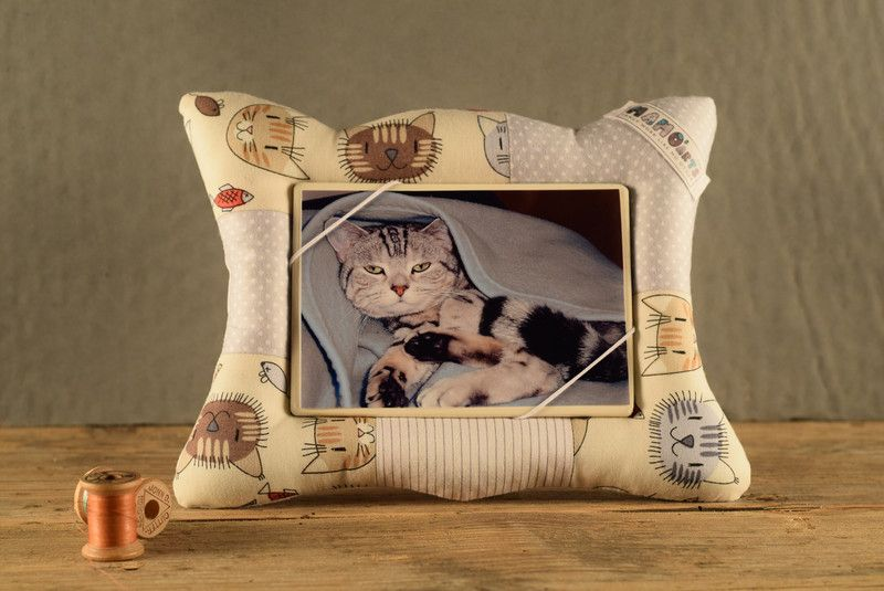 Bilderrahmen - Fotorahmen vintage CATS - Katzenmotiv  beige - ein Designerstück von MamosArts bei DaWanda