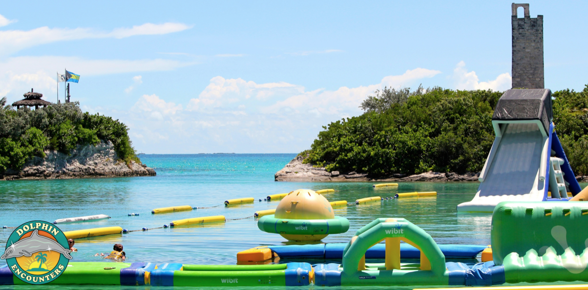 Part Of Our Aquapark On Blue Lagoon Island In The Bahamas