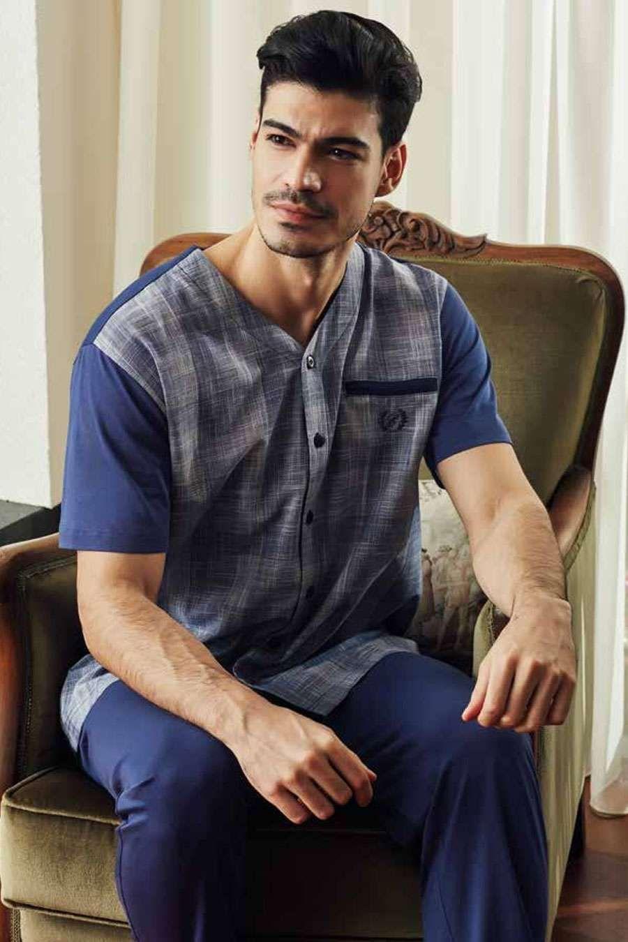 Eros 10096 Erkek Pijama Takımı I ERKEK I Eros I Eros 10096 Erkek Pijama Takımı - camasircimshop.com