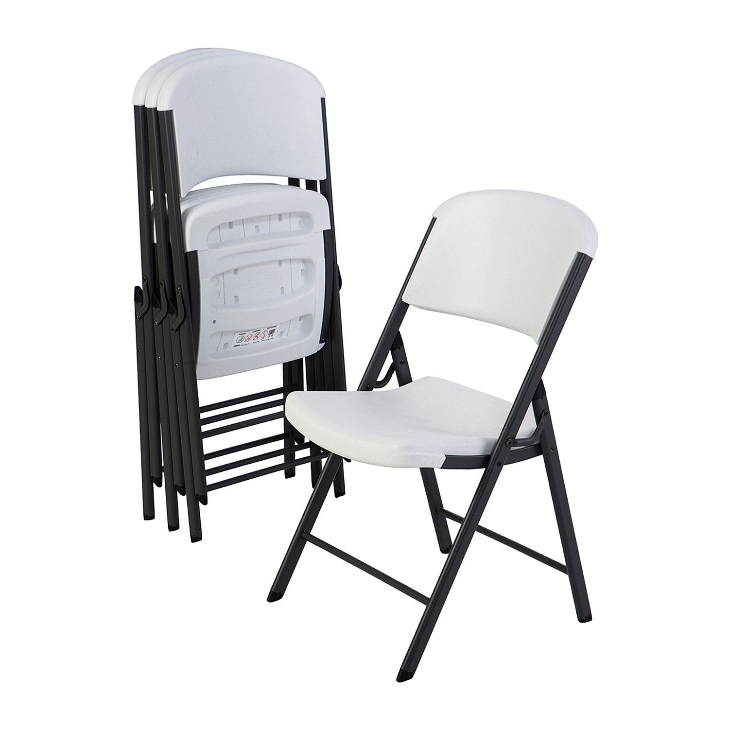 Lifetime Commercial Grade Contoured Folding Chair 4 Pack Choose