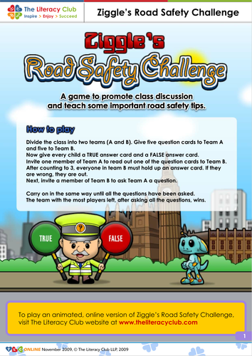 Road Safety Game A fun game designed to promote class