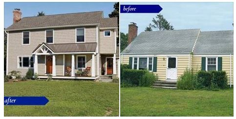 Before After 1950s Cape Cod Into A Comfortable Home For Today With An Addition Home Additions Cape Cod Outdoor Structures