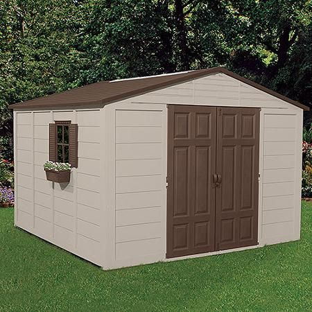 Suncast 10 X 10 Outdoor Storage Building Shed Outdoor Storage Buildings Shed Building Plans Diy Shed Plans