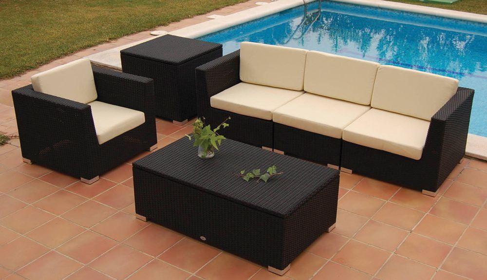 Colección para exterior JAMAICA, de Bambó Blau. Butaca, sofá modular ...