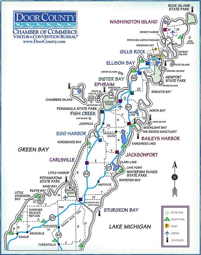 Pin By Kathi P On Wisconsin Door County Door County Wisconsin Lodging Door County Map