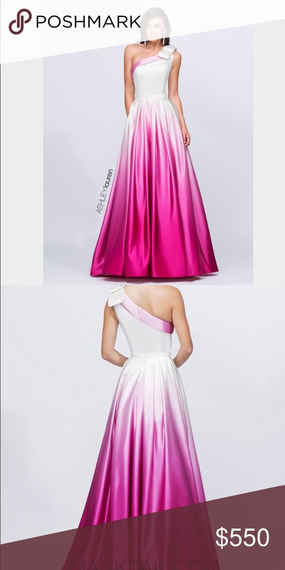 NWT Ashley Lauren Fuschia Gown #1132 Boutique | My Posh Picks ...