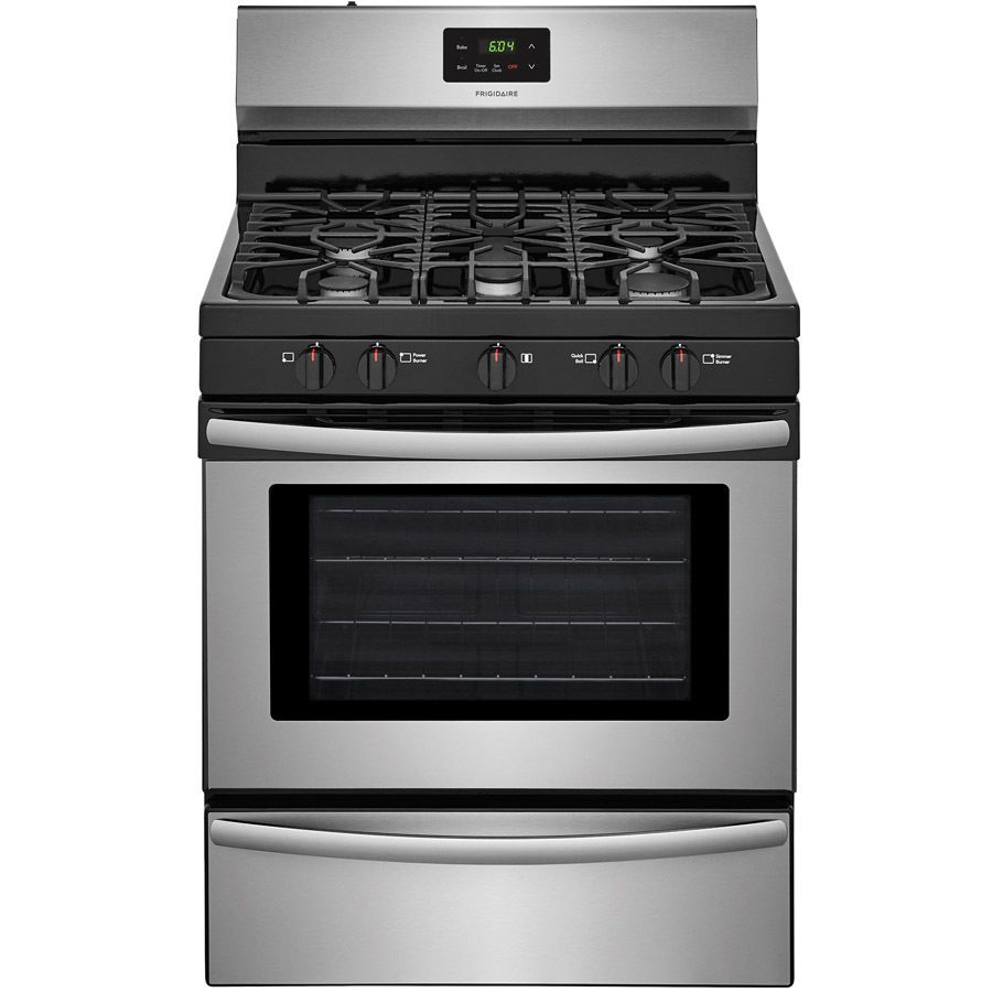 Frigidaire 5 Burners 4 2 Cu Ft Freestanding Gas Range Easycare Stainless Steel Common 30 In Actual 29 875 In Lowes Com Gas Range Frigidaire Cooktop