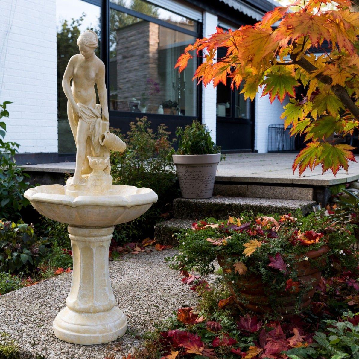 stilista® gartenbrunnen modell aphrodite, 118 cm hoch, tÜv gs + ce, Gartengestaltung