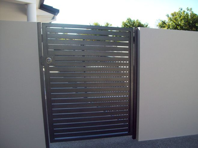 Return Fence And Aluminium Gate Moderner Zaun Gartentore Gartentor Metall