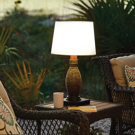 Battery Operated Outdoor Table Lamp Country Home Pinterest