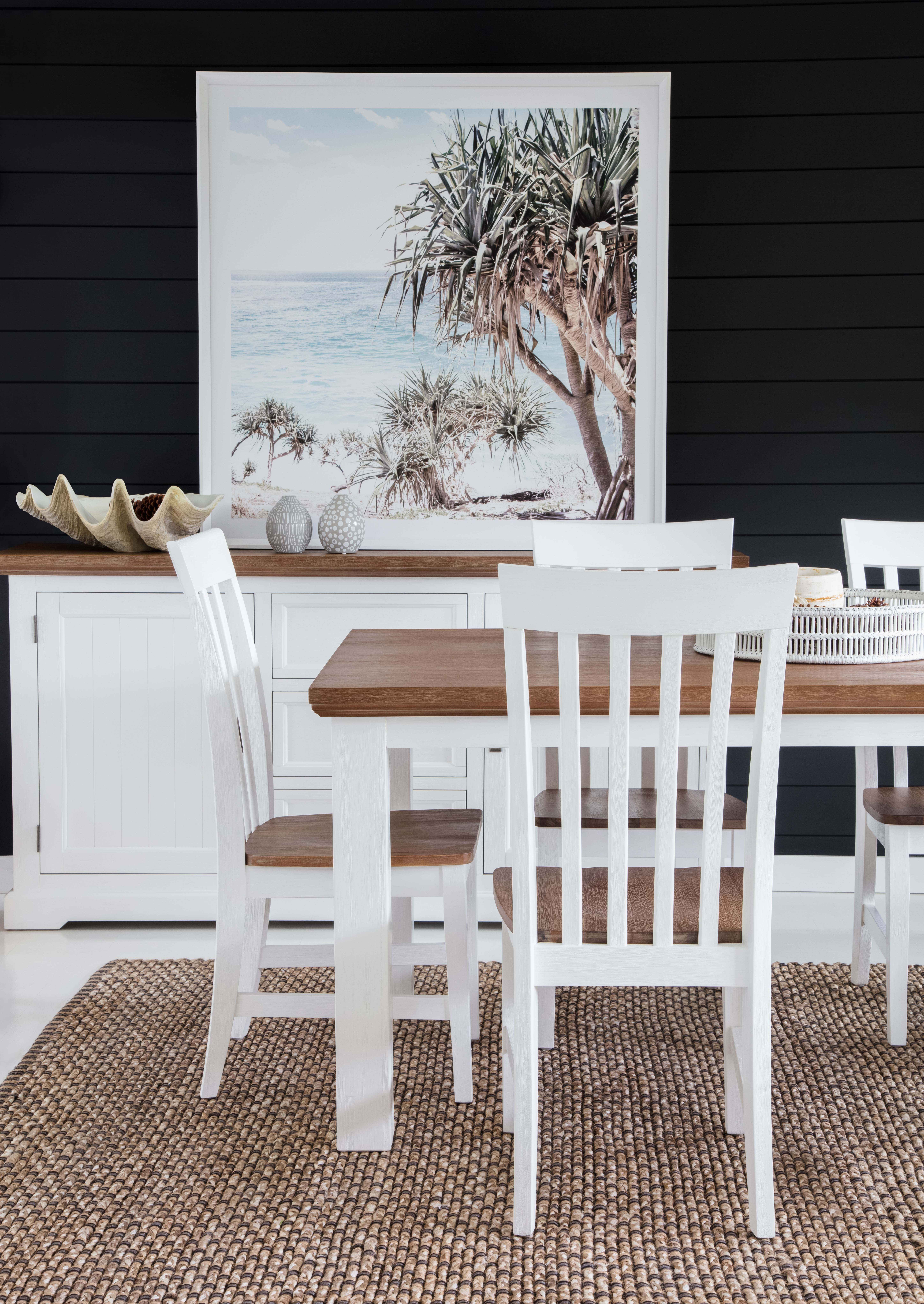 Hamptons Dining Table Buffet In Two Tone Diningtable
