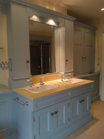 Double Basin With Cupboards Both Sides Of Mirror To Hide Toothbrush Charger Etc Basin Cupboard Double Basin