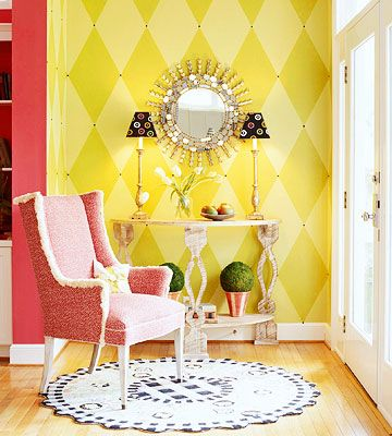 DIY Paint Projects for Your Home | Upholstery tacks, Diamond pattern ...