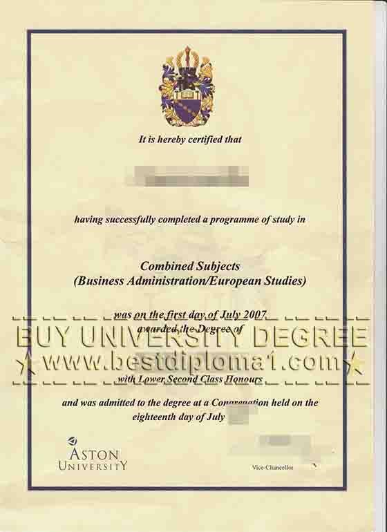Fake Aston University diploma    wwwbestdiploma1  Skype - first class honours