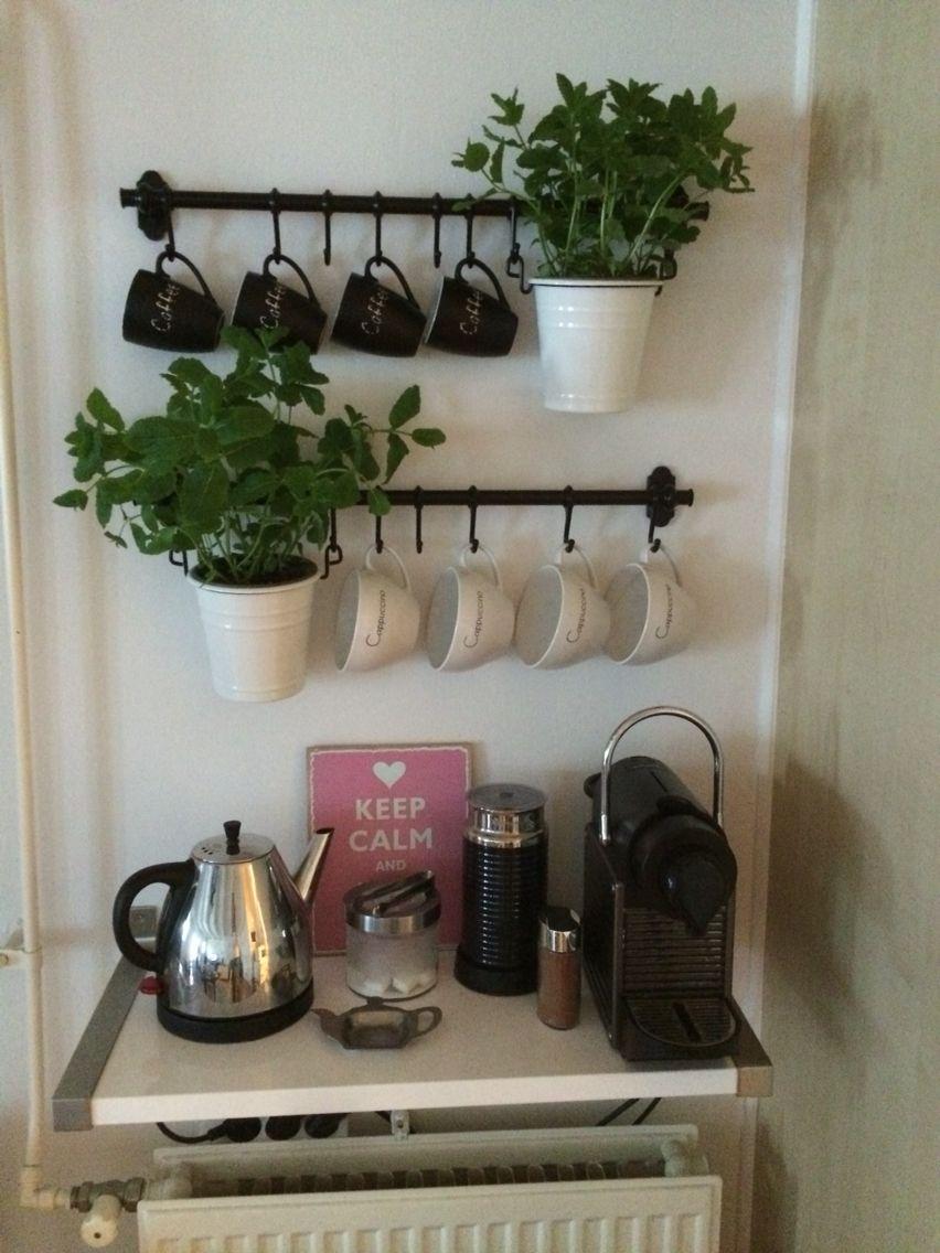 coffee corner ikea ideas coffee tea cups nespresso kitchen diy