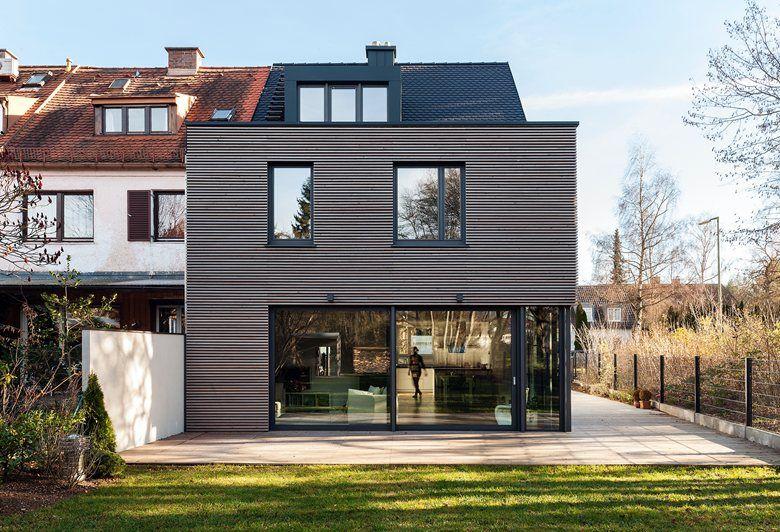neubau reihenendhaus mnchenharlaching munich 2014 arcs architekten architecture. Black Bedroom Furniture Sets. Home Design Ideas