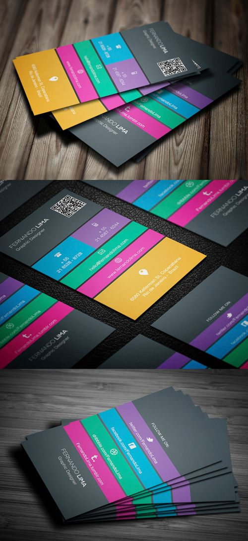 26 High Quality Modern Business Cards Design Carte De Visite