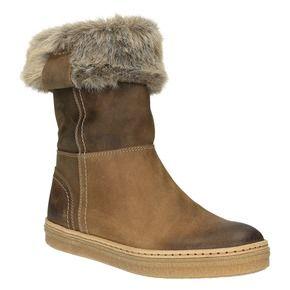 Kožená zimná obuv s kožúškom