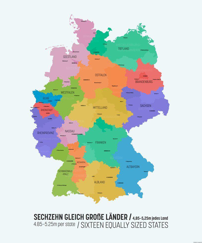 16 Equally Populous German Laender By Alasdairgunn Bundesland