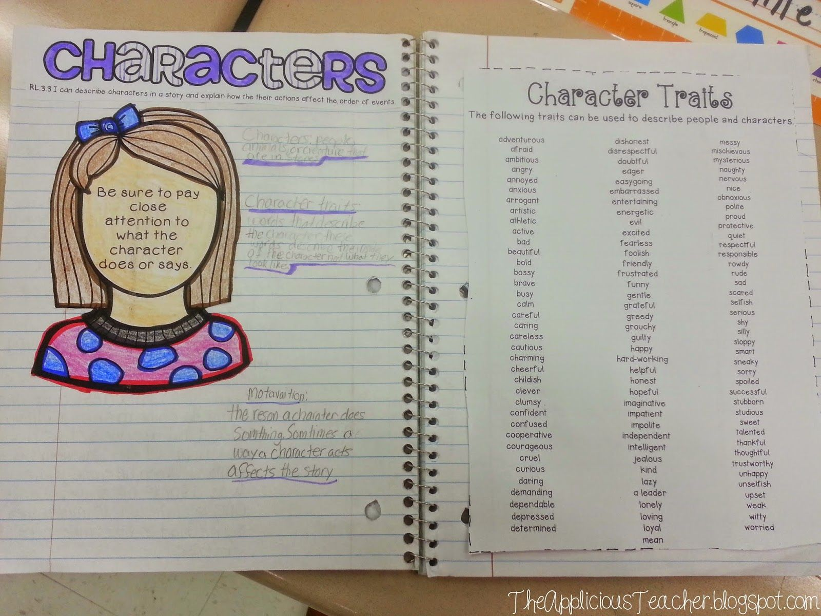 Character Traits With Horrible Harry And The Scientific