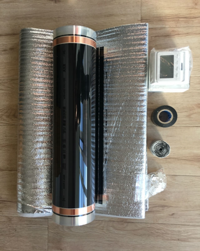 (97.00$)  Watch here - http://aiv2r.worlditems.win/all/product.php?id=32791308772 - 4 Sq Meters 50cm*8m Heating Film + E51.716 LCD Thermostat 2mm Thickness Reflecting Film+Clips 12 pieces+ Insulation Tape+Daub