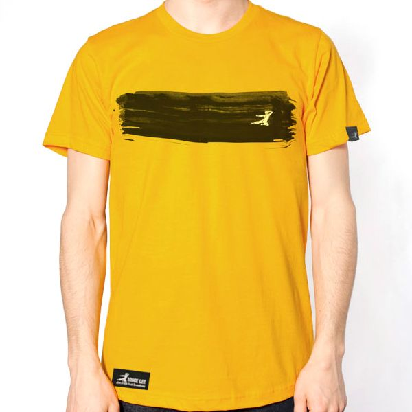 bruce lee yellow t shirt