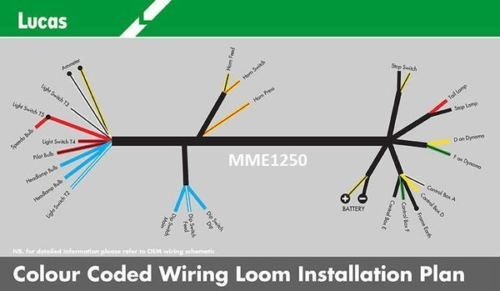 genuine-lucas-bsa-b31-b32-b33-b34-m20-m21-m33-wiring -loom-cloth-bound-quality