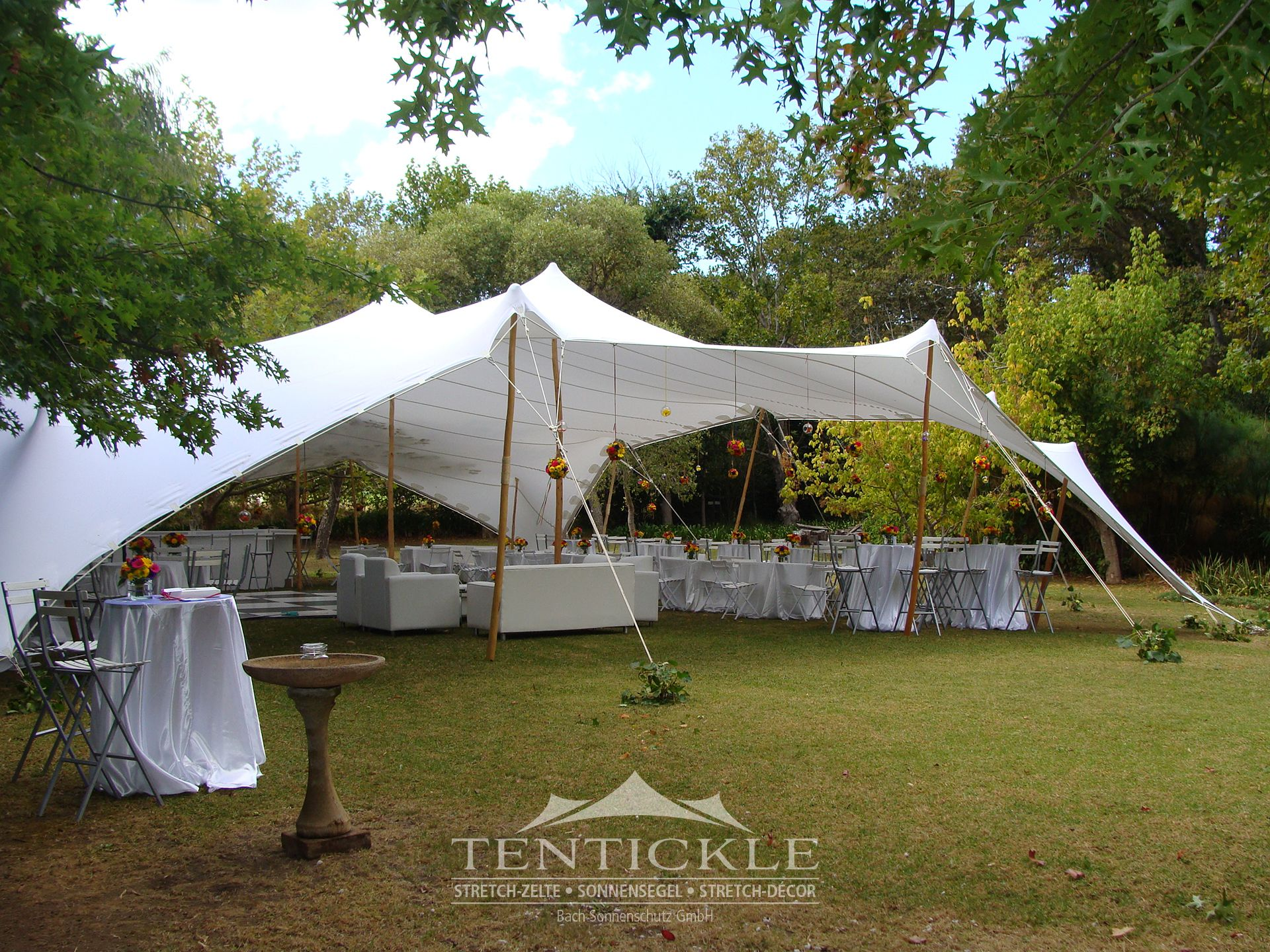Hochzeit Feiern Unter Einem Tentickle Stretchzelt Party Tent