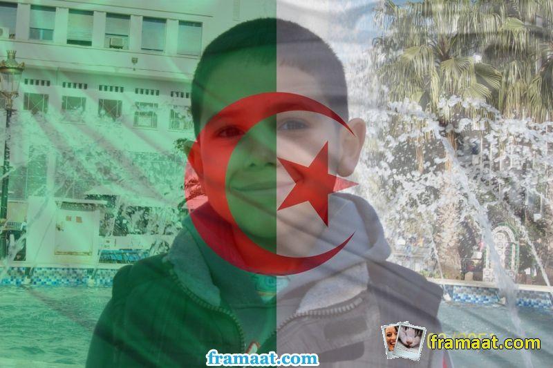 ضع صورتك على صورة علم الجزائر صور اعلام الفيس بوك