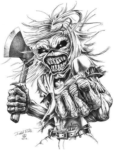 Iron Maiden Svg : maiden, Patrick, Hatfield, Eddie, Maiden, Tattoo,, Posters,
