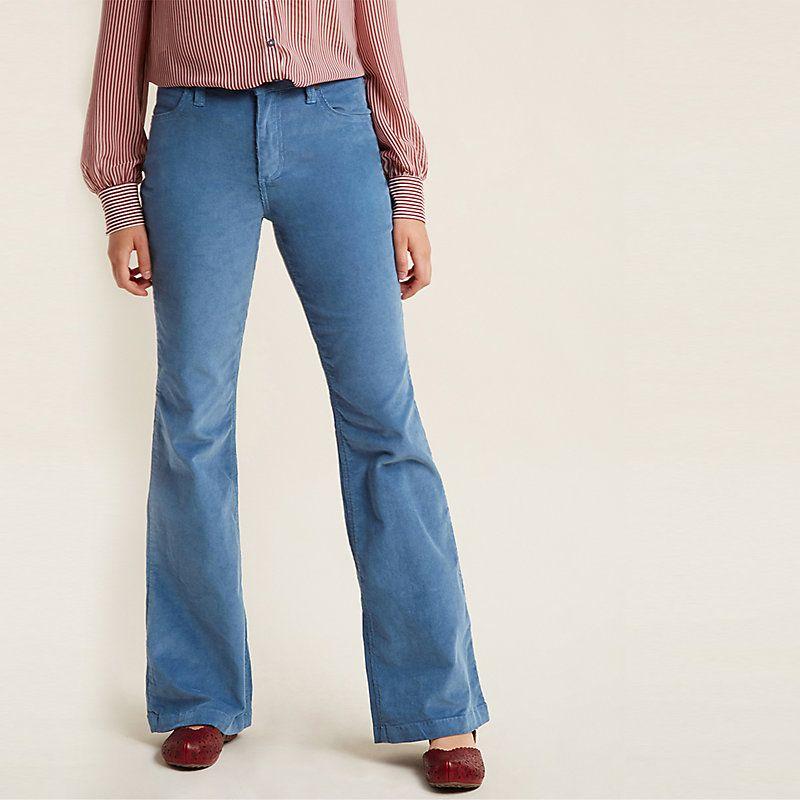 28f8945d Wrangler Women's Modcloth x Flared Corduroy Pants (Plus Sizes) (Size: 24W x  30) Blue