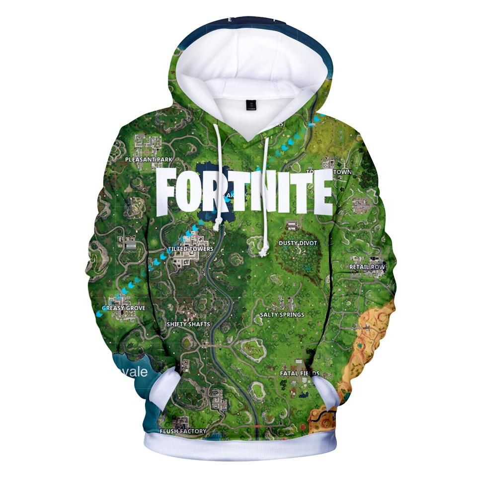 New Square with Characters HOODIE FORNITE BLACK PULLOVER RAVEN KIDS /& ADULTS