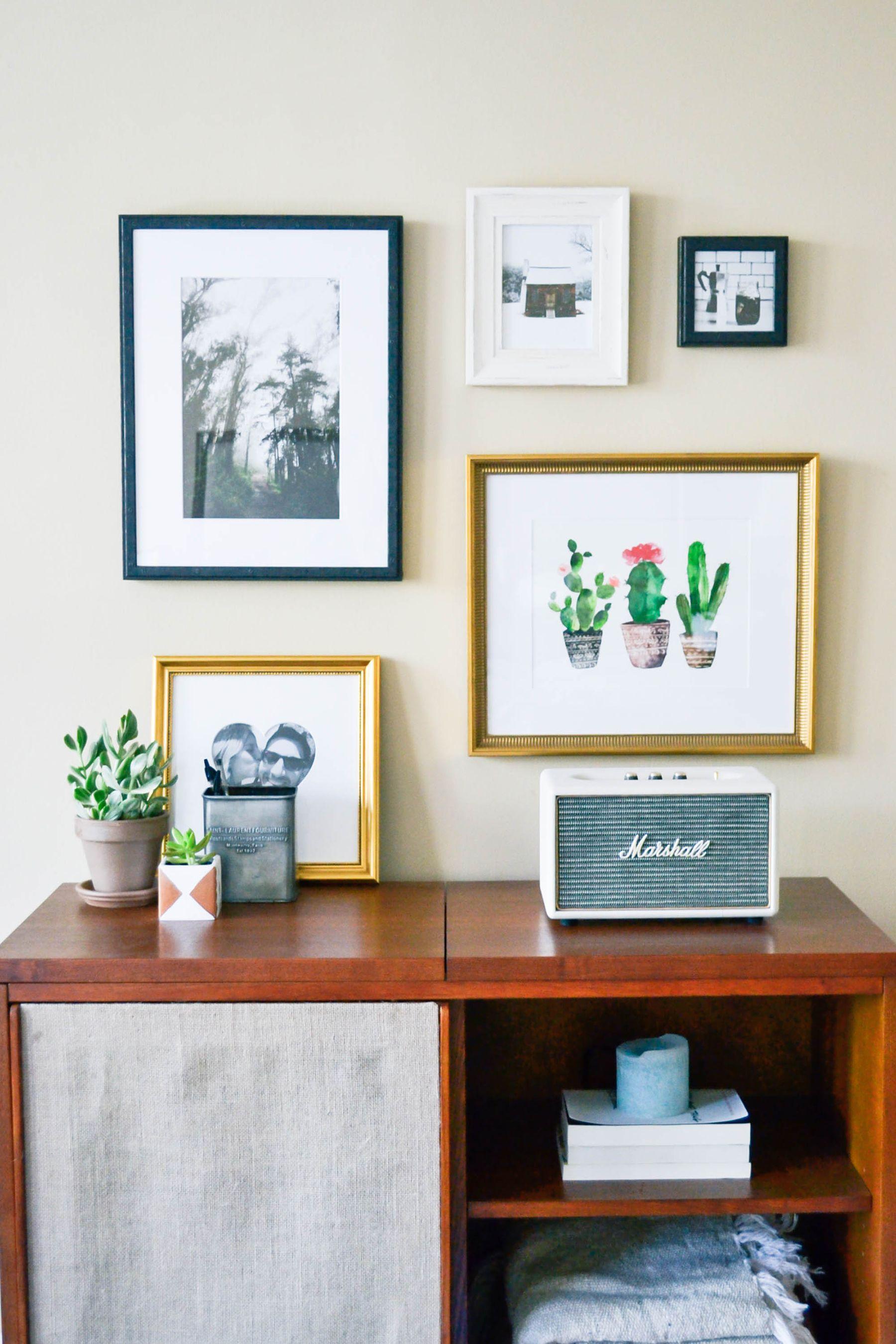 framebridge gallery wall, stylish frames, custom frames, decorating ...